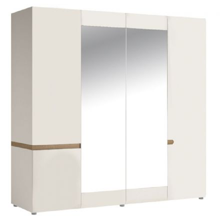 Chelsea Bedroom 4 Door wardrobe with mirrors